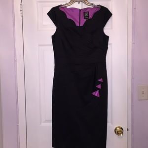 JAX Midi Black Silk-like Dress